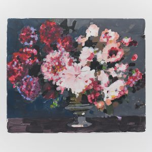 painterly floral art in acrylic on paper by Gabriela Ibarra